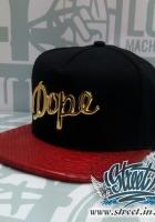 Кепка DOPE кожаный козырек, металлическое лого