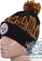 Шапка STEELERS, NEW ERA с бубном