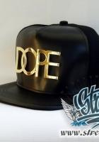 Кепка DOPE кожаная, металлическое лого