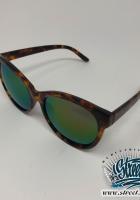 Очки солнцезащитные с тонированным стеклом и роговй оправой