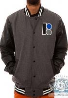 Куртка колледж PLan B с кожаными рукавами на подкладке